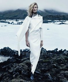 Stark Yeti-Inspired Fashion - The 'Deu Branco' Editorial Features Fluffy, Mountain-Ready Styles