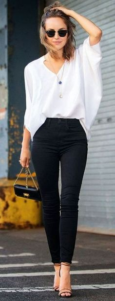 black and white ootd