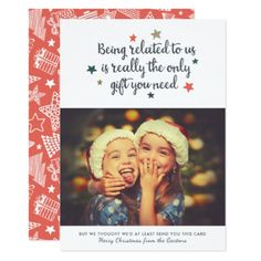 The Only Gift You Need | Holiday Photo Card - modern gifts cyo gift ideas personalize