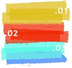 Colored Paint Brush Background Vector 01