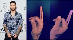 zayn new tattoo in his middle finger Zayn News, New Tattoos, Finger, Middle, Fingers
