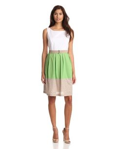 Evan Picone Women's Belted Mix Material ($74.46)