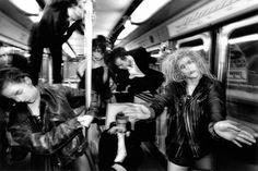 Dance group La La La Human Steps in Metro, William Klein, Paris, 1991