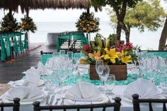 We love this wedding reception highlighted by tropical flowers and bright colors at Sunscape Sabor Cozumel! Destination Wedding Inspiration, Destination Weddings, Wedding Resorts, Wedding Reception, Our Wedding, Wedding Ideas, Wedding Bells, All Inclusive Family Resorts, Adventure Photos