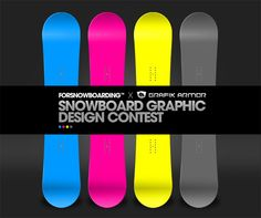 Snowboard graphic design contest