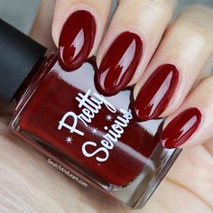 Pretty Serious Verry Merry Berry Swatch Pretty Serious Ghosts of Christmas Past Collection Swatches Best Nail Polish Brands, Merry Berry, Ghost Of Christmas Past, Swatch, Berries, Nail Designs, Ghosts, Nails, Instagram Posts