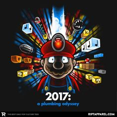 2017: A Plumbing Odyssey #nintendo #supermario #mario https://superhumanitee.com/398