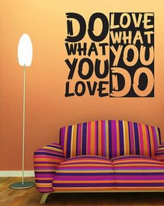 Turn a Pinterest quote into a wall decal to make the perfect social media-centric Valentine.