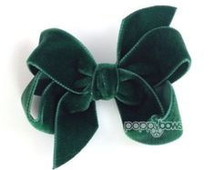 Burgundy velvet hair bow 3 hair bow Christmas hair by PoppyBows