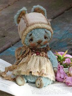Teddy Bunny Girl in Blue By Svetlana Bordner - Bear Pile