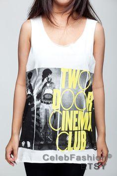 Two Door Cinema Club T Shirt Indie Rock Band Women by CelebFashion, $15.99