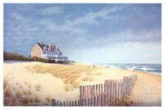 Beach House Art Print by Daniel Pollera at Art.com