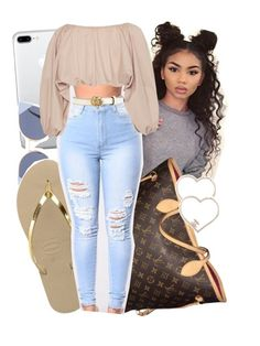 A fashion look from August 2017 featuring Cult Gaia, metallic leather sandals and handbags tote bags. Browse and shop related looks. Swag Outfits For Girls, Teenage Girl Outfits, Cute Swag Outfits, Dope Outfits, Teen Fashion Outfits, Girly Outfits, Simple Outfits, Stylish Outfits, Mode Top