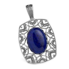 I love Carolyn Pollack's jewelry and I love Lapis! Bali Jewelry, I Love Jewelry, Lapis Lazuli Pendant, Heavenly, Sapphire, Gemstone Rings, Pendants, Sterling Silver, My Love