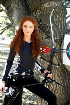 Virginia Hankins - Professional stunt woman, archery coordinator, and archery stunt shooter. Recurve, Compound, Longbow, Crossbow, Barebow, Horsebow, Mounted Archery