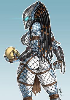 Ronnie Illustrator — Commission - Female Predator commissions:...