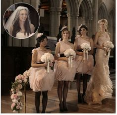Gossip Girl bridesmaid dresses- classy and fancy Vera Wang Bridesmaid Dresses, Bridesmaid Dresses Online, Bridesmaids, Celebrity Wedding Dresses, Celebrity Weddings, Alternative Bridesmaid Dresses, Gossip Girl Wedding, Wedding Dress Cost, Wedding News