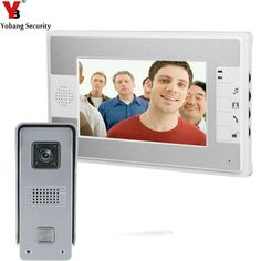 "YobangSecurity 7""Inch Video Door Phone Video Door Entry System Intercom Doorbell Home Security Kit 1 Camera 1 Monitor  #Affiliate"