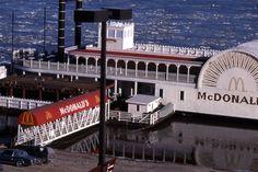 The floating McDonald's. Riverfront St. Louis, Missouri.