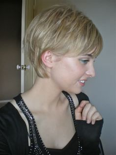 a good cut for growing out your pixie cut. When I decide I want long hair again.