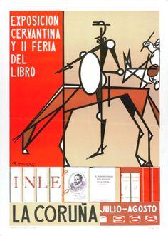 BARROS, Rafael (1891-1968). Exposición cervantina y II Feria del Libro : La Coruña, julio-agosto 1968 / R. Barros. -- [Madrid] : INLE, [1968] (La Coruña : Grafinsa). -- 1 lám. (cartel) : il. cor ; 69 x 50 cm. Madrid, Home Decor, Live, Buildings, Poster, Decoration Home, Room Decor, Home Interior Design, Home Decoration
