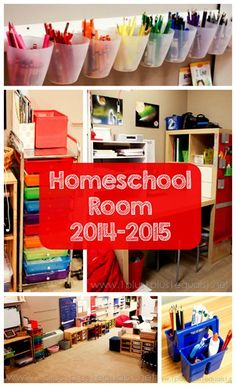 Homeschool Room Tour Fall 2014 - Home Schooling İdeas Home Learning, Learning Spaces, Fun Learning, Teaching Kids, School Resources, School Tips, School Stuff, Kids Schedule, School Organization