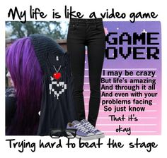"""""""Game Over by Falling In Reverse"""" by kenziebass ❤ liked on Polyvore featuring Proenza Schouler, Converse, emo, scene, FallinginReverse, fir and Gameover"""