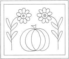 FlowersAndPumpkin punch needle