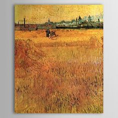 Famous Oil Painting Arles View from the Wheat Fields by Van Gogh - WallArtBox