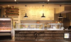 Grow salad and juice bar. Designed by Creative Differences Studio Fitout by Protech Hospitality