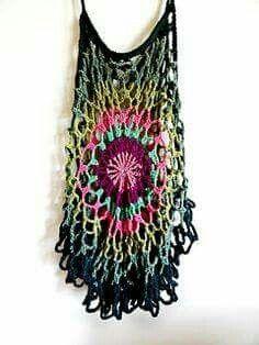 Mandala Top pattern by Regina Weiss Crochet mandala top pattern Crochet Woman, Love Crochet, Crochet Lace, Crochet Summer, Crochet Tops, Ravelry Crochet, Simple Crochet, Knitting Patterns, Crochet Patterns
