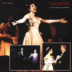 Photos from the inserts for the original cast album of Yeston and Kopit's musical, Phantom. Starring Richard White and Glory Crampton.