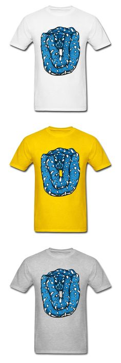 Yellow Cartoon Print T-Shirt Michael The Python Mens Fashion T Shirts Polyester Cotton Stranger Things T Shirt Black Tshirt