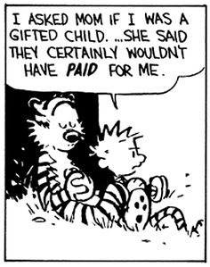 """I should reread my """"Calvin and Hobbes"""" books sometime; there must be countless funnies that flew over my head as a child."""