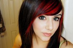 i love this hair color with the highlights i might do this next time i dye my hair