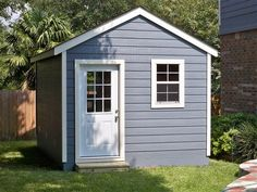 Product Description: This 11×18 Gable Workshop was designed to blend in with the customers backyard landscaping. Hardie Panel Siding and Skirting Insulated Windows and Door Paint / Shingle Match to House