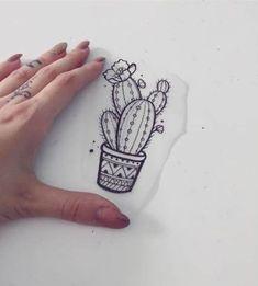 40 Super-Ideen für Tattoo Cute Cactus tattoo – foot tattoos for women Mini Tattoos, Boho Tattoos, Fake Tattoos, New Tattoos, Small Tattoos, Bohemian Tattoo, Flower Tattoos, Tatoos, Armband Tattoo