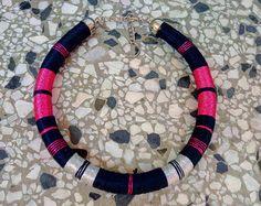 Hilo de collar africano collar collar collar de cuerda la declaración tribal collar étnico joyas africanas mujeres regalo regalo de San Valentín