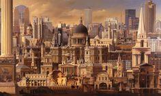 carl laubin - Szukaj w Google London Architecture, Classical Architecture, Historical Architecture, Leon Krier, Aesthetic Backgrounds, Urban Design, New York Skyline, Past, Album