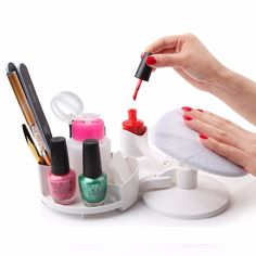 MAKARTT Mani Pedi Station Manicure and Pedicure Set Nail Studio Nail Polish Holder Stand and Rest DIY Home Nail Art F0552