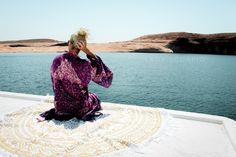 ☾✩ Summer Travels with my Lady Scorpio Gold Mandala! It is absolutely GORGEOUS! Save 25% off all orders with code PINTERESTXO at checkout | Bohemian Mandala Tapestries Decor Shop LadyScorpio101.com | @LadyScorpio101 | Fashion Purple Pink Mandala Kimono with Fringe by the Spell & Gypsy Collective Spell Designs // Alexa Halladay ❂ Wanderlust at Lake Powell, Utah!