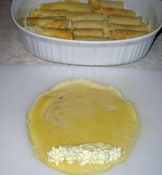 Nalysnyky are a rolled pancake or crepe stuffed with a cottage cheese mixture and baked in bubbling sweet whipping cream. These have to be m...