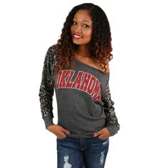 Leopard Sweater University of Oklahoma | Impressions Online Women's Clothing Boutique