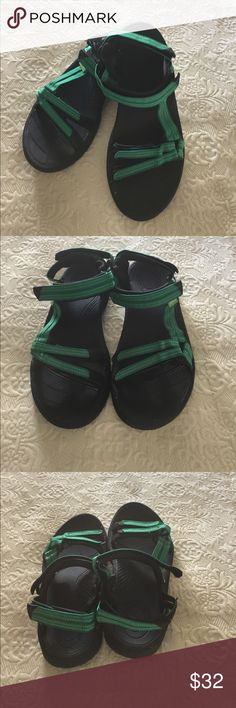 🌿Teva Woman's Sport Sandals Teva Womans Sport Sandals in Size 8, worn one time, no sign of wear at all. A beautiful green color with black rubber soles. Teva Shoes