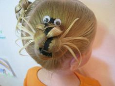 Cool Hairstyle for Little Girl – Fun Updo