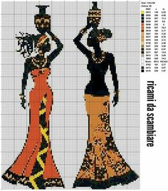 African Lady x-stitch Free Cross Stitch Charts, Cross Stitch Pictures, Cross Stitch Heart, Modern Cross Stitch Patterns, Cross Stitch Designs, Cross Stitching, Cross Stitch Embroidery, Cross Stitch Silhouette, Blackwork