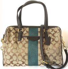 Coach Signature Stripe Nancy 12cm Satchel Handbag. Starting at $1