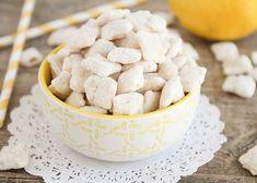 Easy Lemon Chex Mix Recipe | Somewhat Simple Sugar Cookie Recipe Easy, Easy Sugar Cookies, Easy Treats To Make, Chex Mix Recipes, Homemade Lemonade, Sweet Recipes, Citrus Recipes, Summer Recipes, Delicious Desserts
