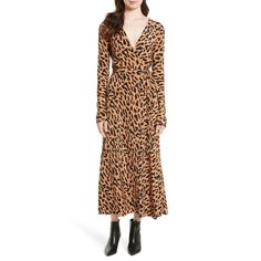 --evaChic--This Diane von Furstenberg Leopard Print Midi Silk Wrap Dress from the Fall/Winter 2017 collection is a smart update to the iconic wrap dress in a custom Belmont print by Chief Creative Officer Jonathan Saunders and his atelier. Figure-elongating and flowy, it reflects the idea of timeless glamour.    https://www.evachic.com/product/diane-von-furstenberg-leopard-print-midi-silk-wrap-dress/