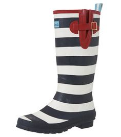 Striped Rubber Boots